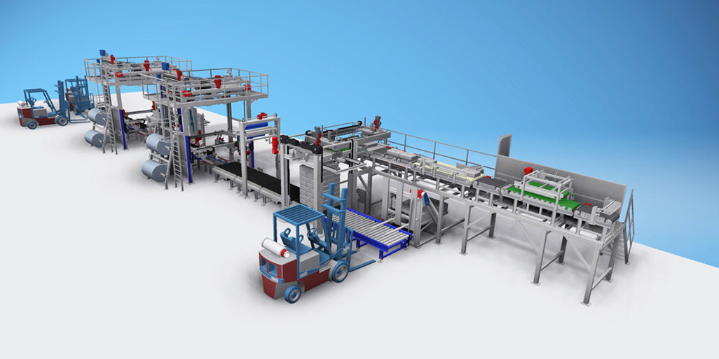 CEMENT PALLETLESS STACKING & PACKAGING LINES